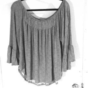 Casual Shirt with Ruffle Sleeves